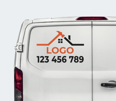 Custom Shaped Car Stickers Customised with your design