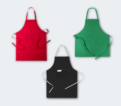 Cotton and polyester apron