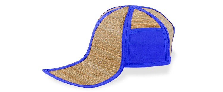Natural straw cap