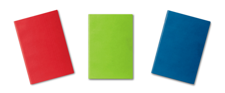 Notebook with flexible cover