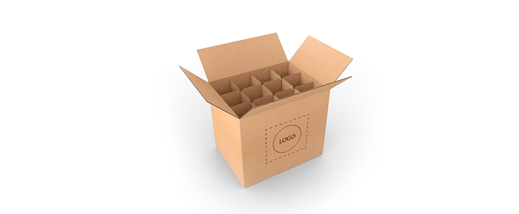 Bottle Cardboard Boxes with Dividers