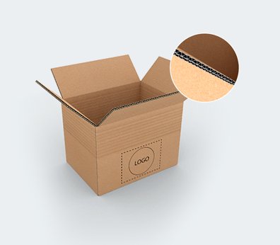 Double Wall Adjustable Cardboard Boxes with Crash Lock Base Customised with your design