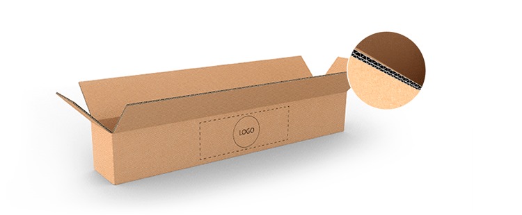 Double Wall Cardboard Boxes for Long Products with Side Opening