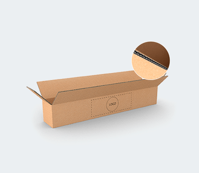 Double Wall Cardboard Boxes for Long Products with Side Opening Customised with your design