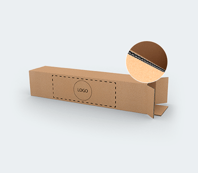 Double Wall Cardboard Boxes for Long Products with Top Opening Customised with your design