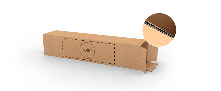 Double Wall Cardboard Boxes for Long Products with Top Opening