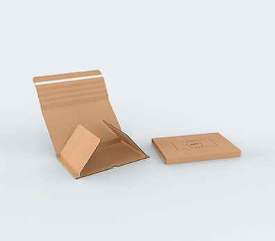 Single Wall Cardboard Book Boxes with Adhesive Lock Customised with your design