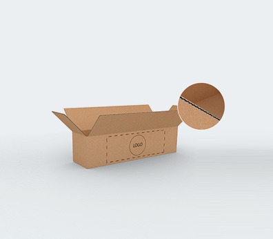 Single Wall Cardboard Boxes for Long Products with Side Opening Customised with your design
