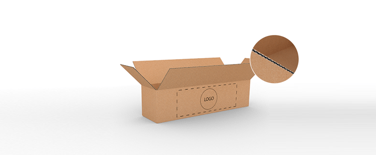 Single Wall Cardboard Boxes for Long Products with Side Opening