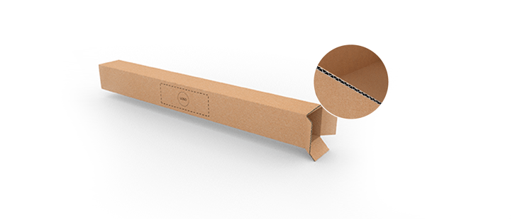 Single Wall Cardboard Boxes for Long Products with Top Opening