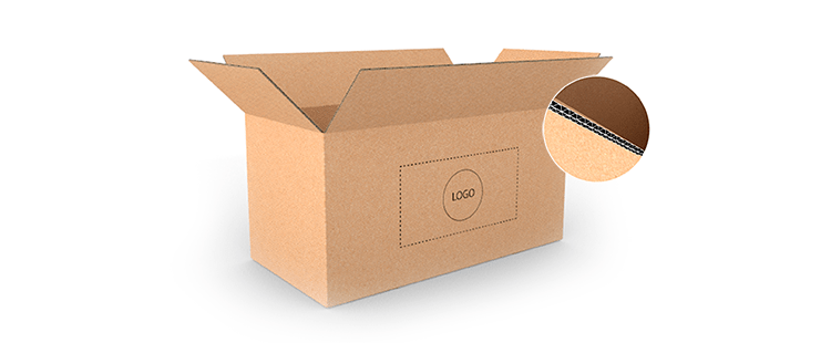 Large Size Horizontal Double Wall Cardboard Boxes
