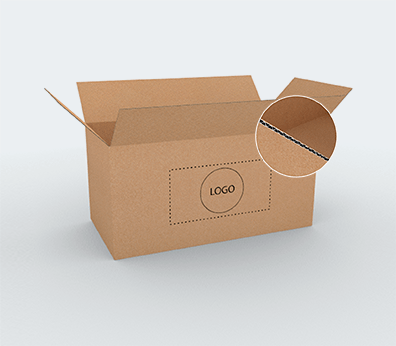 Large Size Horizontal Single Wall Cardboard Boxes Customised with your design