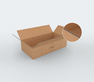 Medium Size Horizontal Single Wall Cardboard Boxes Customised with your design