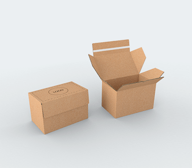 Single Wall Cardboard Postal Boxes with Adhesive Lock Customised with your design