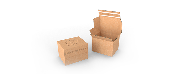 Single Wall Cardboard Postal Boxes with Double Adhesive Lock