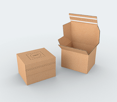 Single Wall Cardboard Postal Boxes with Double Adhesive Lock Customised with your design