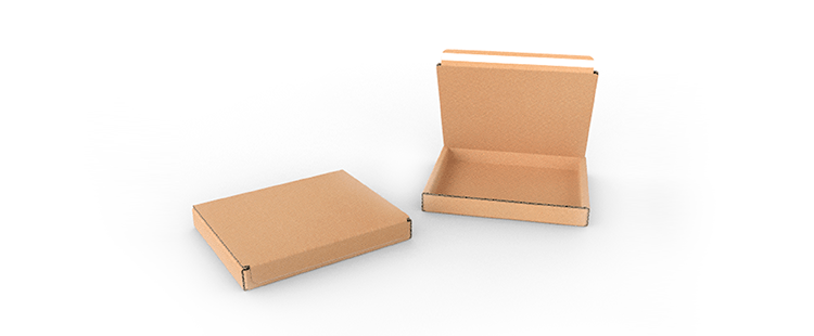 Single Wall Cardboard Postal Boxes with Adhesive Lock for Flat Products