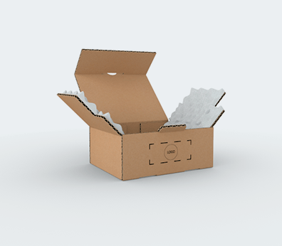 Single Wall Cardboard Postal Boxes with Foam Protection Customised with your design