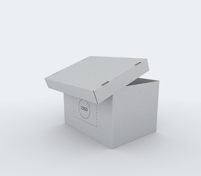 Single Wall Cardboard Boxes with Side Handles and Removable Lid Customised with your design