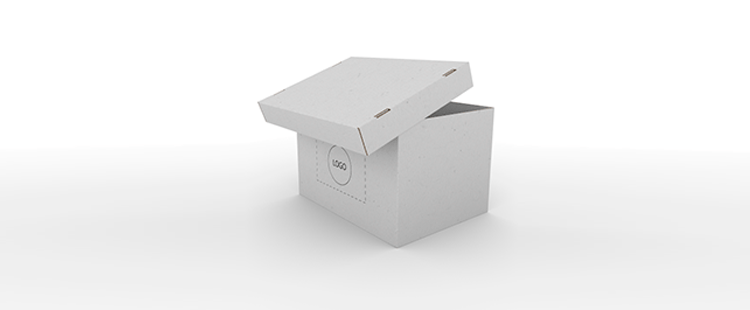 Single Wall Cardboard Boxes with Side Handles and Removable Lid