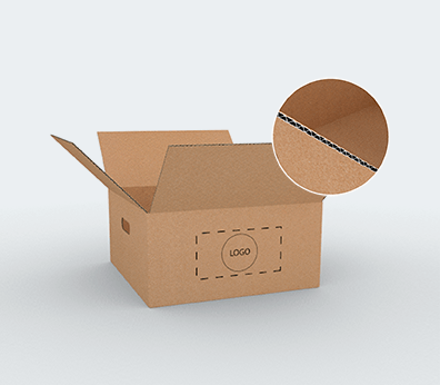 Single Wall Cardboard Boxes with Side Handles Customised with your design