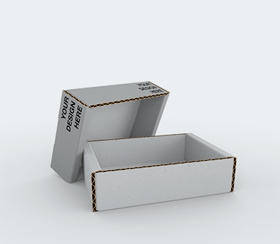 Single Wall Telescopic Cardboard Boxes with Adjustable Height Customised with your design