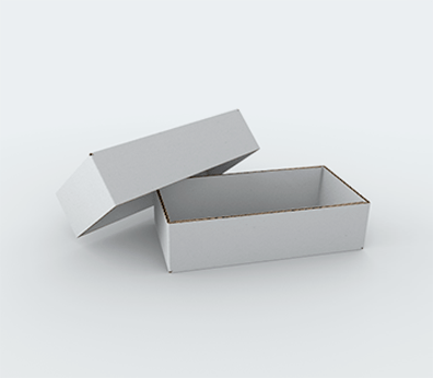 Single Wall Cardboard Boxes with Crash Lock Base and Adjustable Height Customised with your design