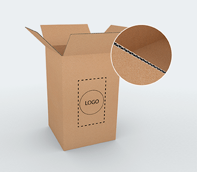 Vertical Single Wall Cardboard Boxes Customised with your design
