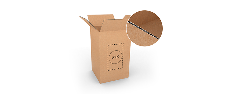 Vertical Single Wall Cardboard Boxes