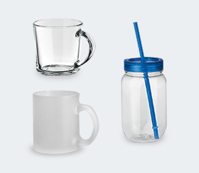 Glass mug Customised with your design