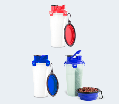 Portable Pet Food and Water Container