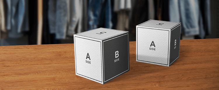 Cardboard display cubes
