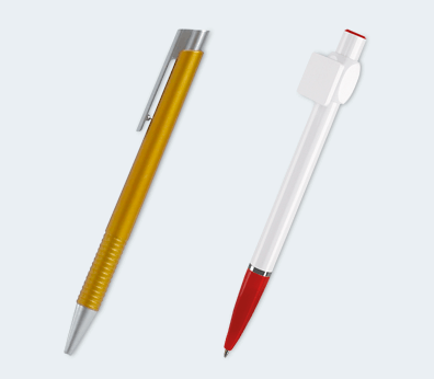 Pen With A Plastic Push-Up Mechanism