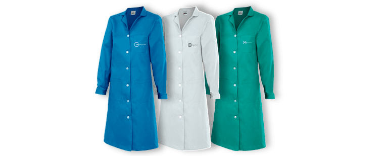 Women's long sleeve lab coat