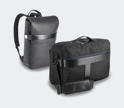 Synthetic Leather Laptop Backpack Customised with your design