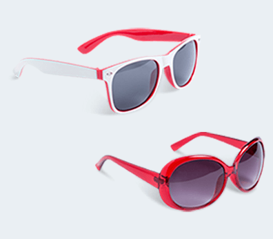 Sunglasses without pattern
