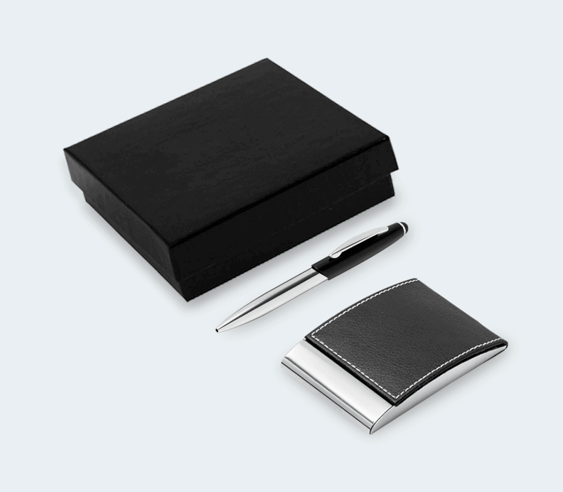 Ensemble Stylo et Porte-Cartes
