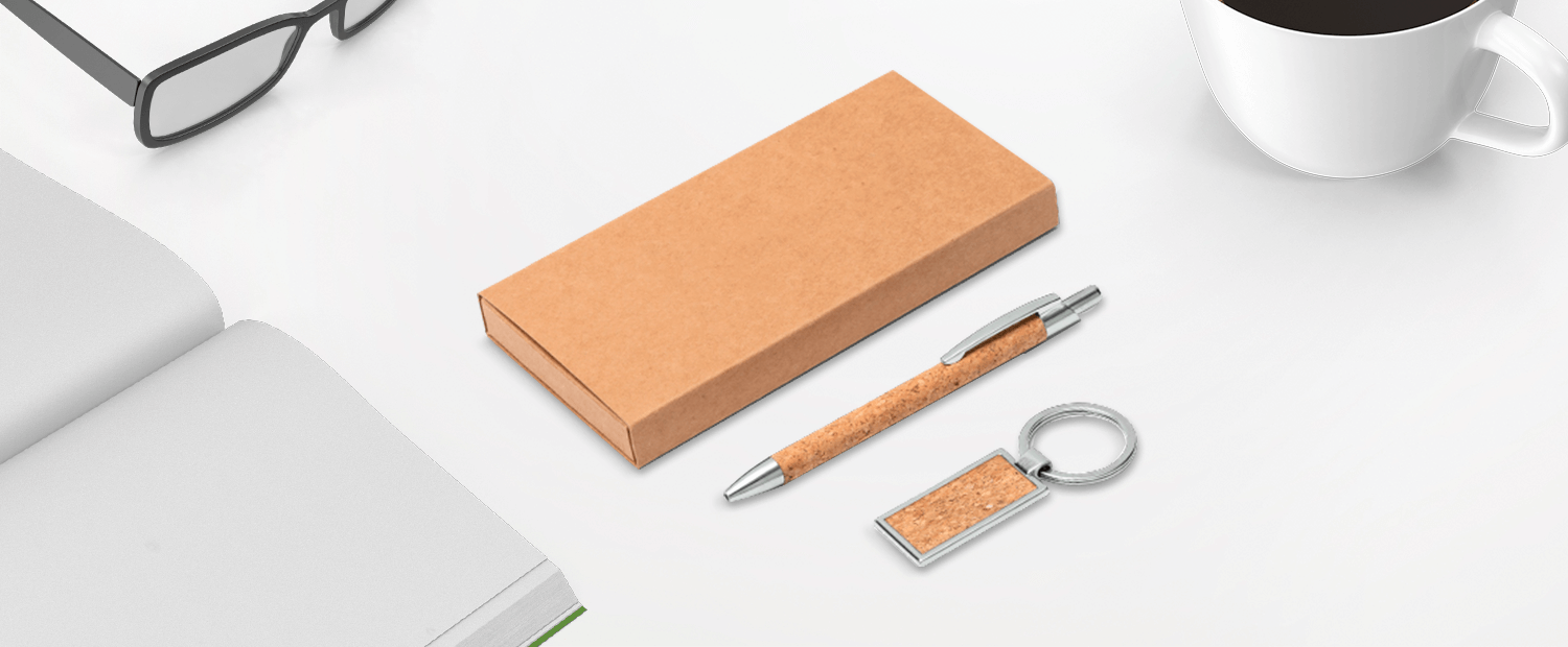 Pen and Keychain Gift Set