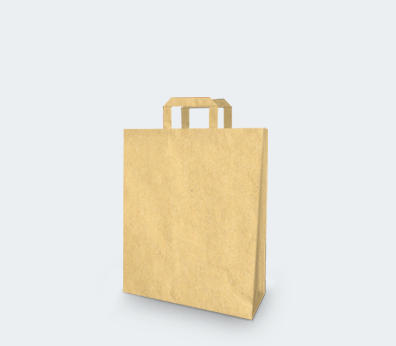 Vertical paper carrier bag with flat handles