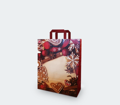 """Vertical paper carrier bag with flat handles """"Christmas"""""""