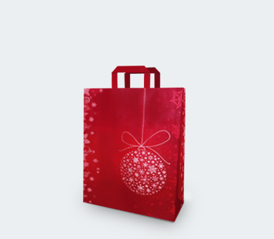"Vertical paper carrier bag with flat handles ""Santa Claus"""