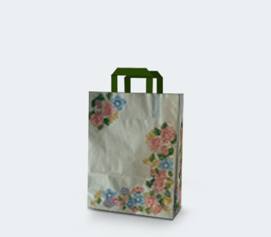 "Vertical paper carrier bag with flat handles ""Spring"""