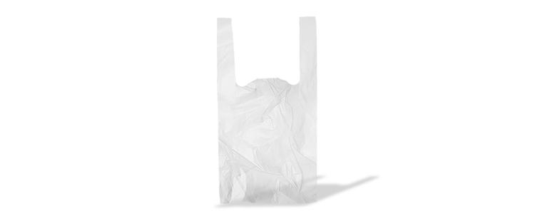 Plastic carrier bag with handles