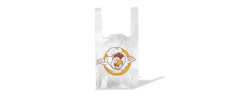Plastic bag with handles for grill takeout restaurants (kg)