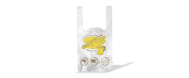 Plastic bag with handles for bread (kg)