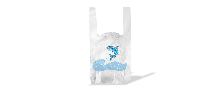Plastic bag with handles for fish (kg)