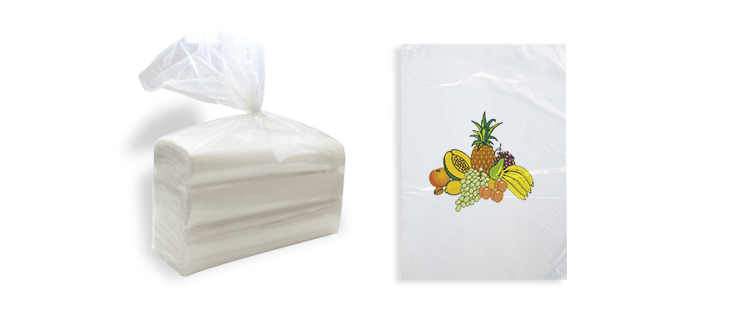 Plastic bag without handles for fruit (roll)