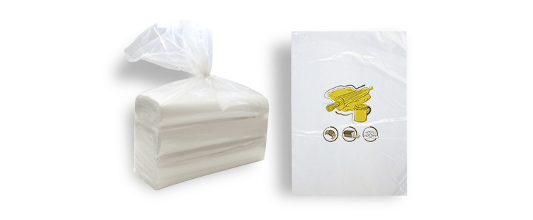 Plastic bag without handles for bread (roll)